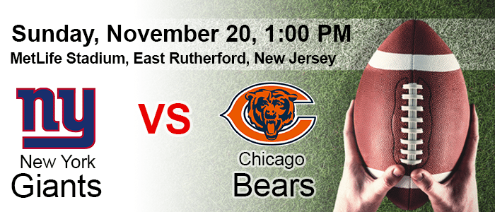 Giants vs Bears